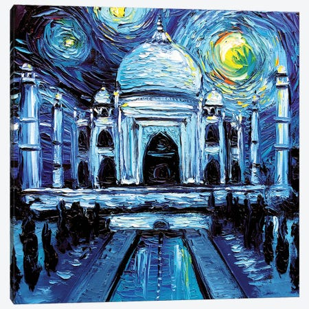 Van Gogh Never Saw Taj Mahal Canvas Print #AJT155} by Aja Trier Canvas Art