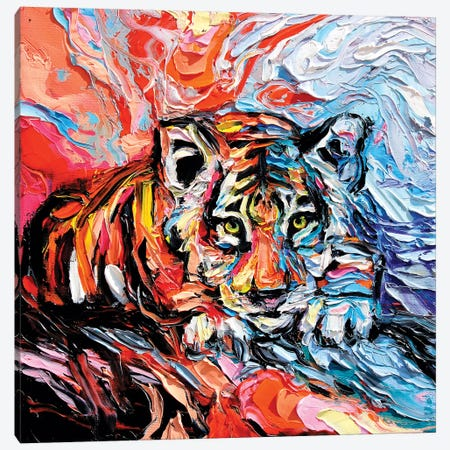 Call Of The Wild 3-Piece Canvas #AJT157} by Aja Trier Canvas Artwork