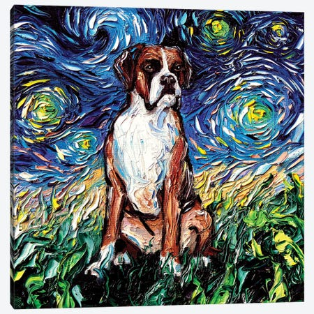 Boxer Night Canvas Print #AJT15} by Aja Trier Canvas Print