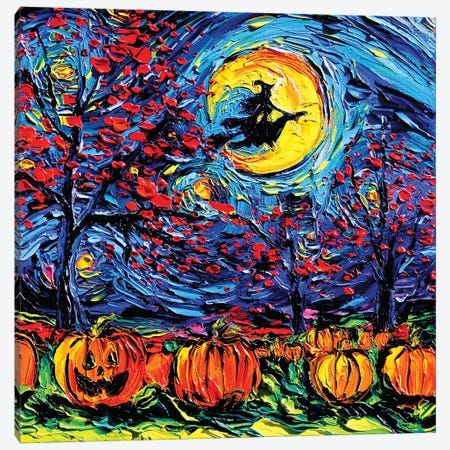 Starry Halloween Canvas Print #AJT160} by Aja Trier Canvas Artwork