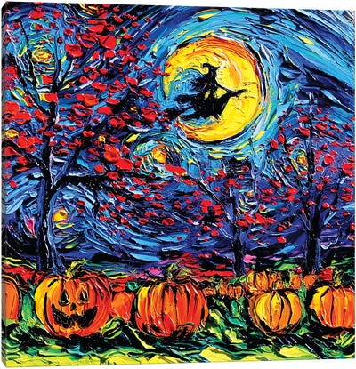 Starry Halloween Canvas Art Print