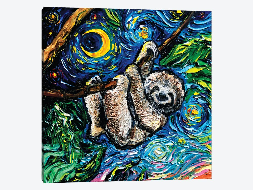 Starry Sloth by Aja Trier 1-piece Art Print