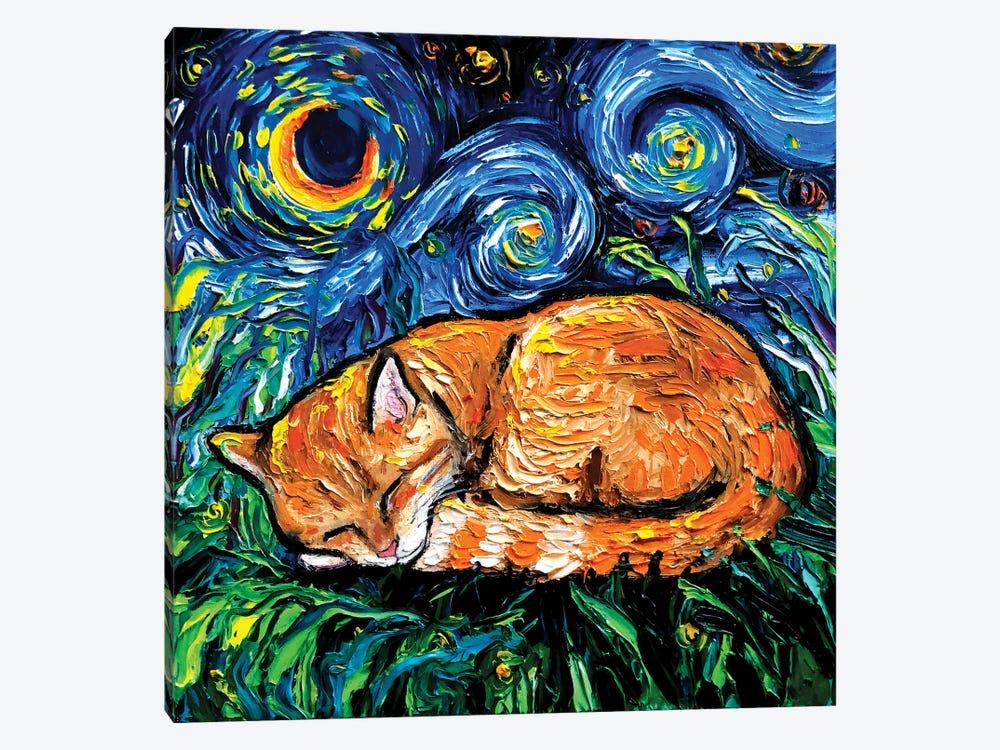 Orange Tabby Night by Aja Trier 1-piece Canvas Art