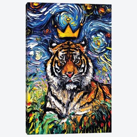 Tiger King Canvas Print #AJT167} by Aja Trier Art Print