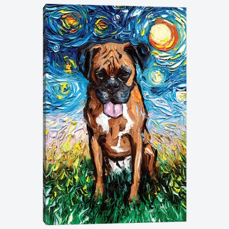 Boxer Night II Canvas Print #AJT168} by Aja Trier Canvas Artwork