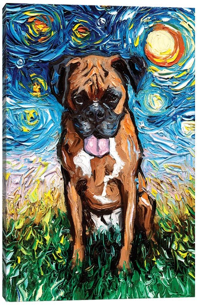 Boxer Night II Canvas Art Print