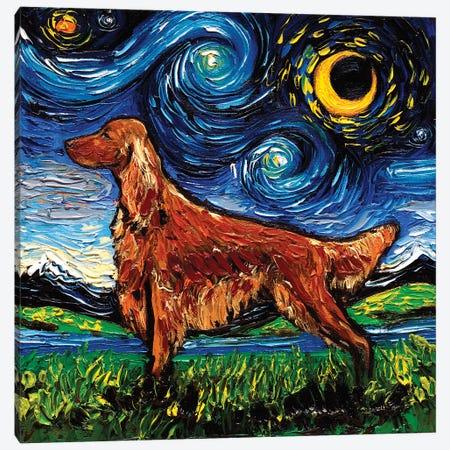 Irish Setter Night Canvas Print #AJT173} by Aja Trier Canvas Print