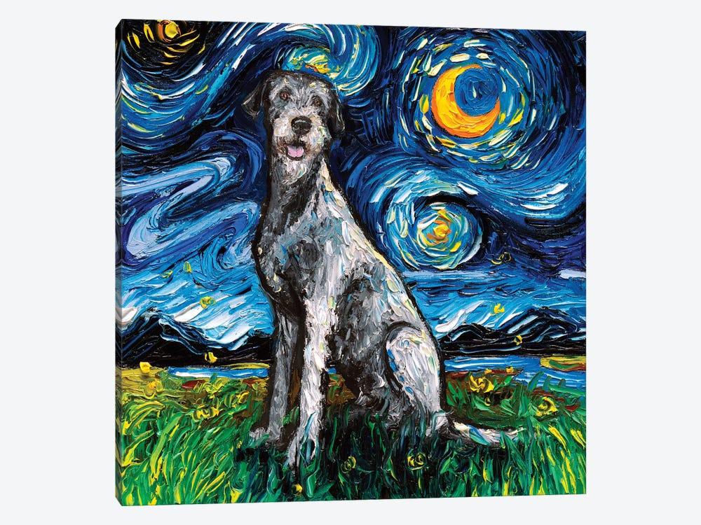 Irish Wolfhound Night by Aja Trier 1-piece Art Print