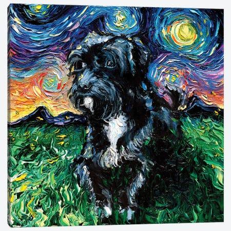 Mix Poodle Night Canvas Print #AJT176} by Aja Trier Canvas Art