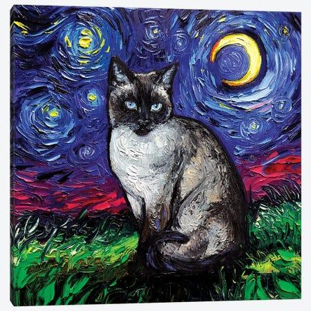 Siamese Night Canvas Print #AJT177} by Aja Trier Canvas Art