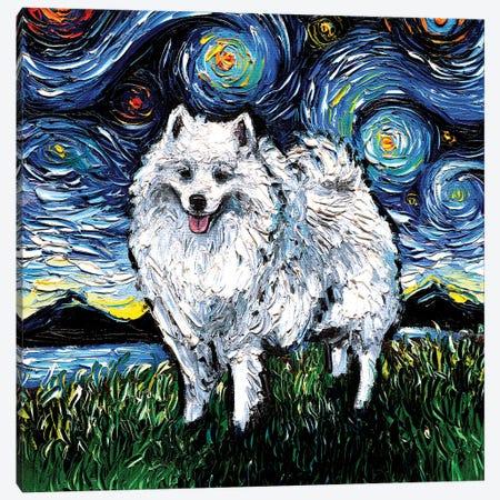 American Eskimo Night Canvas Print #AJT181} by Aja Trier Canvas Art