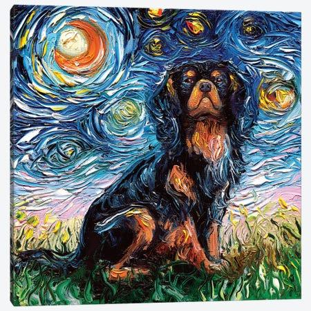 Cavalier King Charles Spaniel Night Canvas Print #AJT18} by Aja Trier Canvas Artwork