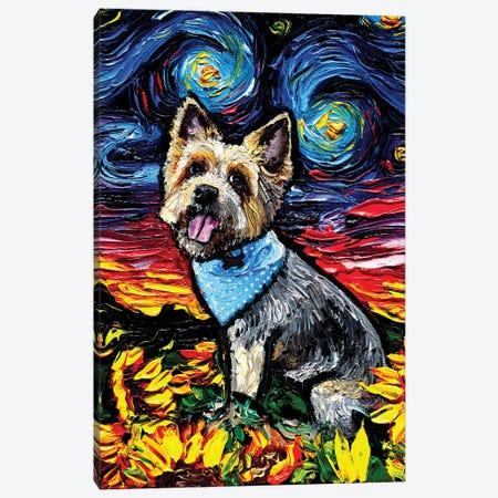 Silky Terrier Night Canvas Print #AJT191} by Aja Trier Canvas Art Print