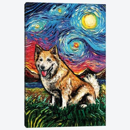 Icelandic Sheepdog Night Canvas Print #AJT192} by Aja Trier Art Print