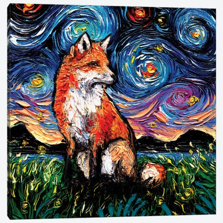 Vulpine Night Canvas Print #AJT196} by Aja Trier Canvas Artwork