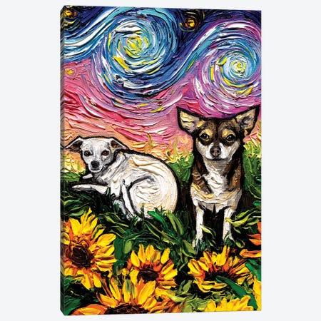 Two Chihuahuas Night Canvas Print #AJT198} by Aja Trier Art Print