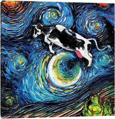 The Cow Jumped Over The Moon Canvas Art Print