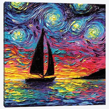 Come Sail Away Canvas Print #AJT203} by Aja Trier Art Print
