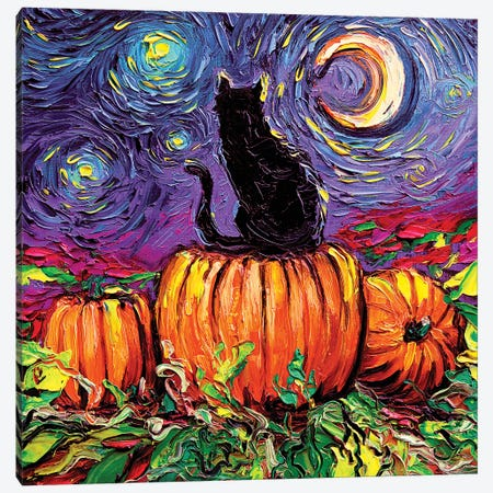 Starry Hallow's Eve Canvas Print #AJT205} by Aja Trier Canvas Art
