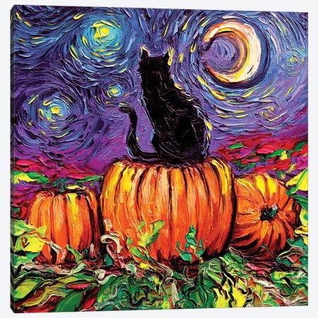 Starry Hallow's Eve Canvas Print #AJT205} by Aja Trier Canvas Art
