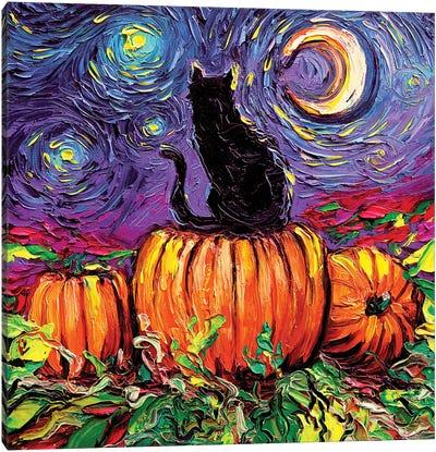 Starry Hallow's Eve Canvas Art Print