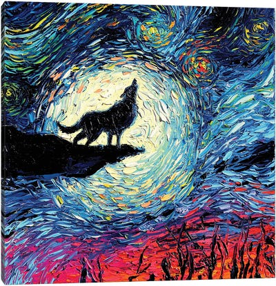 Van Gogh Never Howled At The Moon Canvas Art Print