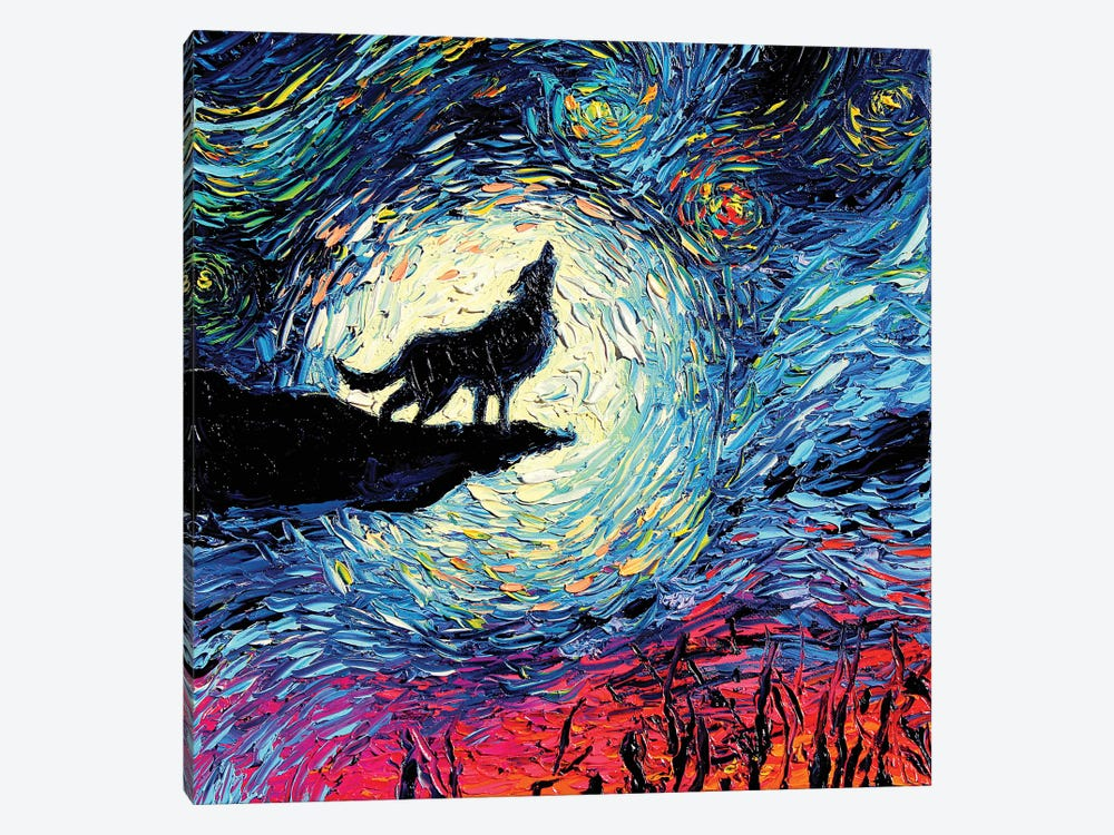 Van Gogh Never Howled At The Moon by Aja Trier 1-piece Canvas Artwork