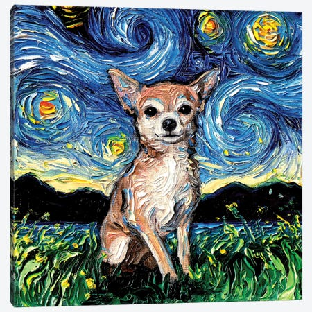 Chihuahua Night Canvas Print #AJT20} by Aja Trier Canvas Print