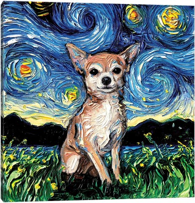 Chihuahua Night Canvas Art Print