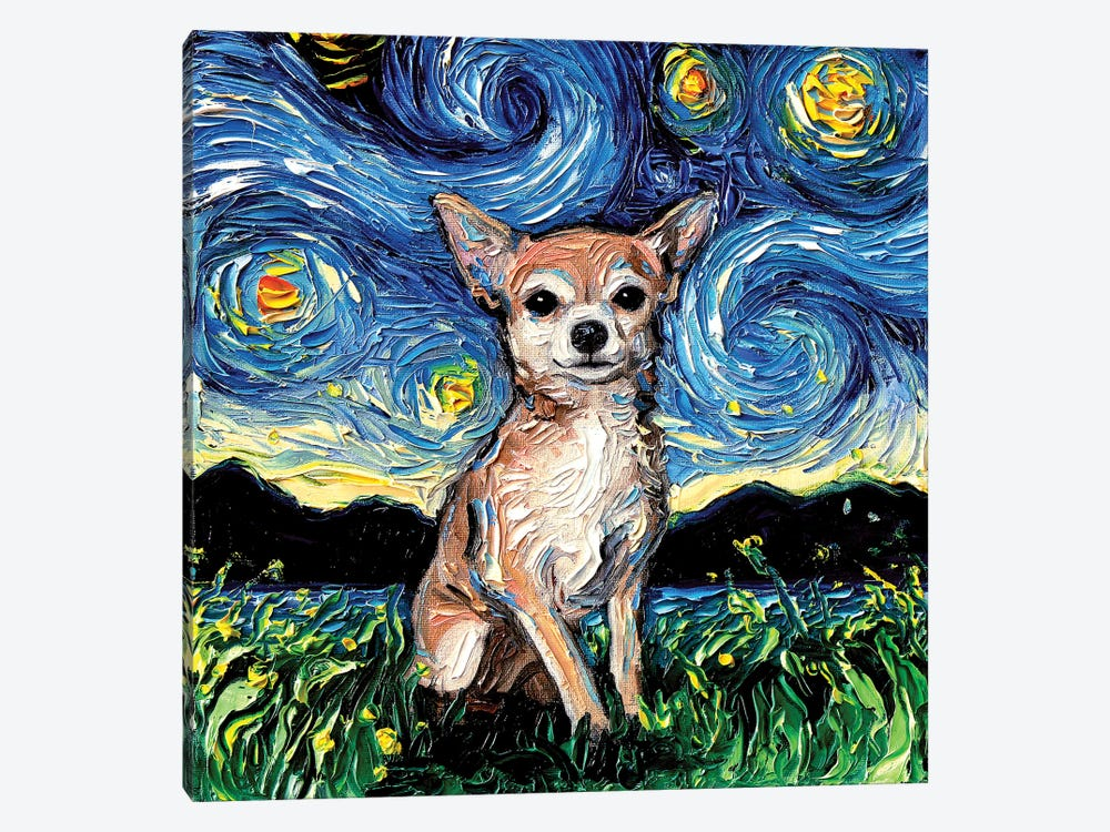 Chihuahua Night by Aja Trier 1-piece Art Print