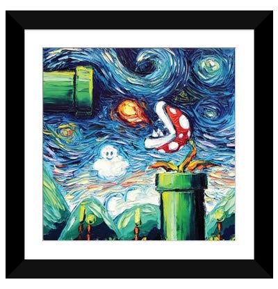 Van Gogh Never Leveled Up Framed Art Print