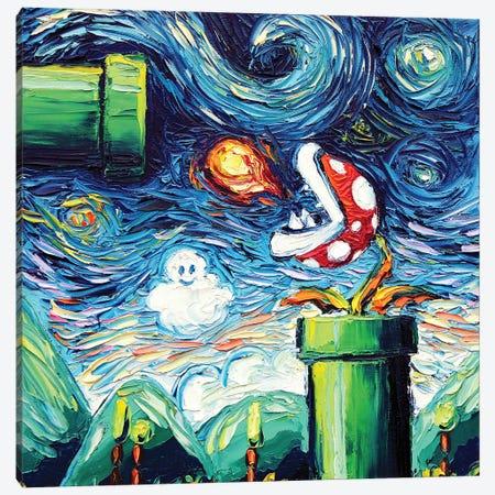 Van Gogh Never Leveled Up Canvas Print #AJT216} by Aja Trier Canvas Art Print