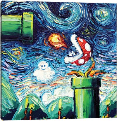 Van Gogh Never Leveled Up Canvas Art Print