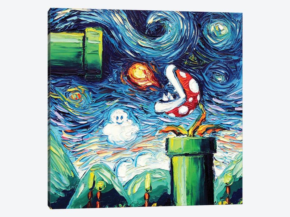 Van Gogh Never Leveled Up by Aja Trier 1-piece Canvas Art Print