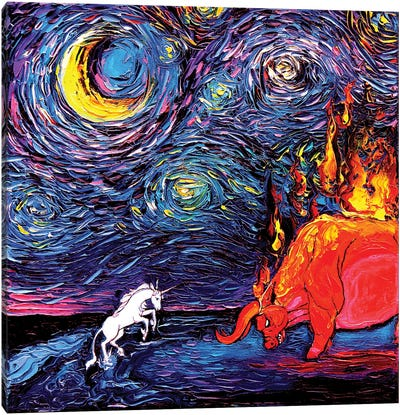 Van Gogh Never Faced The Red Bull Canvas Art Print