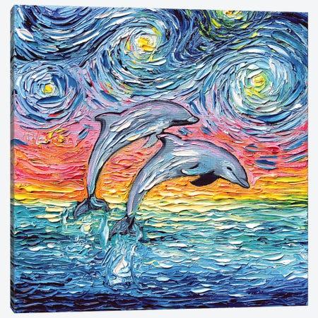 Van Gogh Never Saw Paradise 3-Piece Canvas #AJT218} by Aja Trier Canvas Artwork
