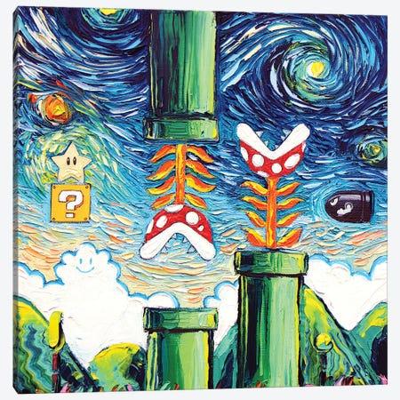 Van Gogh Never Became Invincible Canvas Print #AJT219} by Aja Trier Canvas Artwork