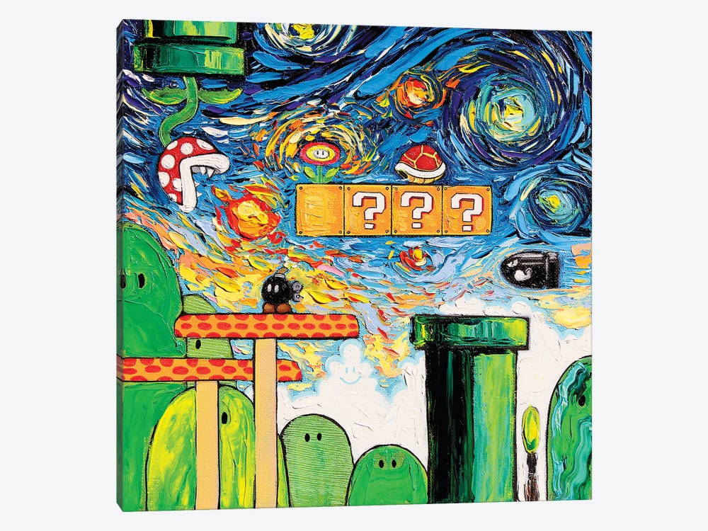 Van Gogh Never Played With Fire by Aja Trier 1-piece Canvas Artwork