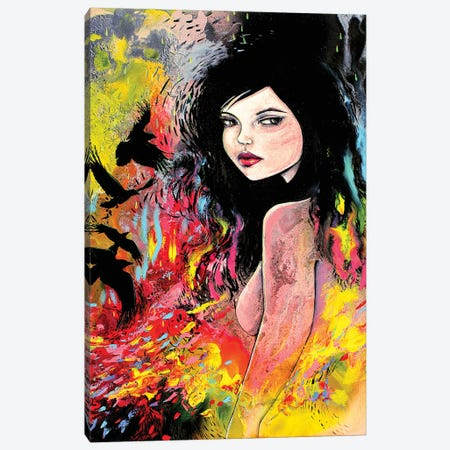 Flock Canvas Print #AJT234} by Aja Trier Art Print