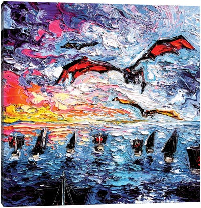 Crossing The Narrow Sea Canvas Art Print