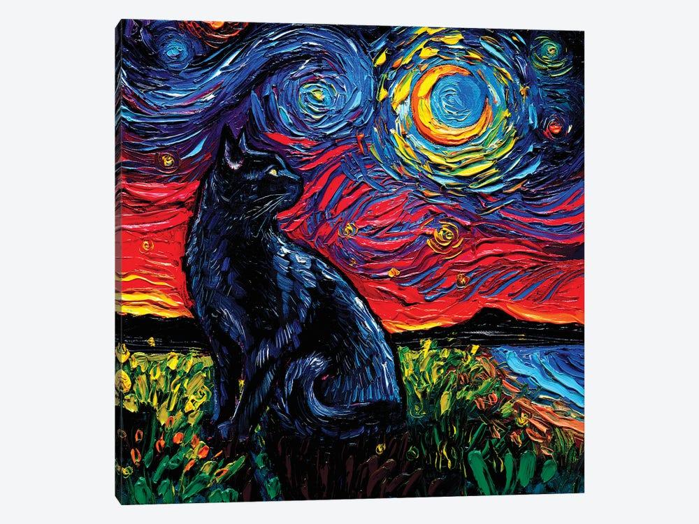 Black Cat Night II by Aja Trier 1-piece Canvas Art