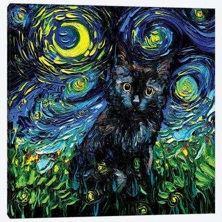 Black Cat Night #3 Canvas Print #AJT269} by Aja Trier Canvas Print