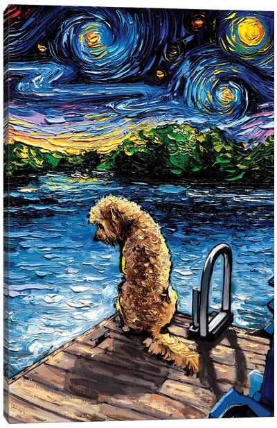 Goldendoodle Night III Canvas Art Print