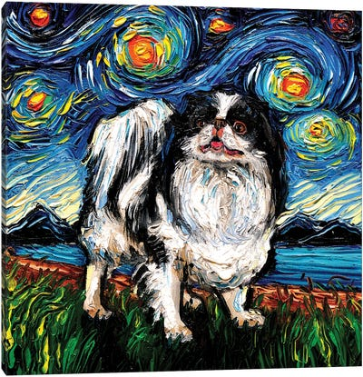Japanese Chin Night Canvas Art Print