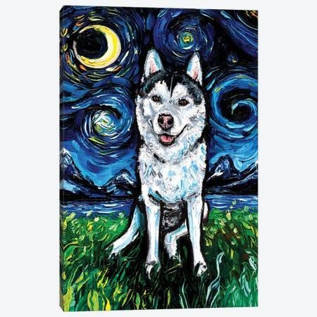 Husky Night II Canvas Print #AJT274} by Aja Trier Art Print