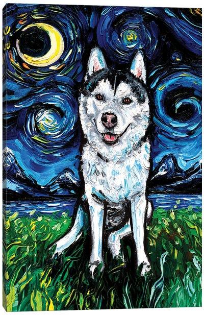 Husky Night II Canvas Art Print