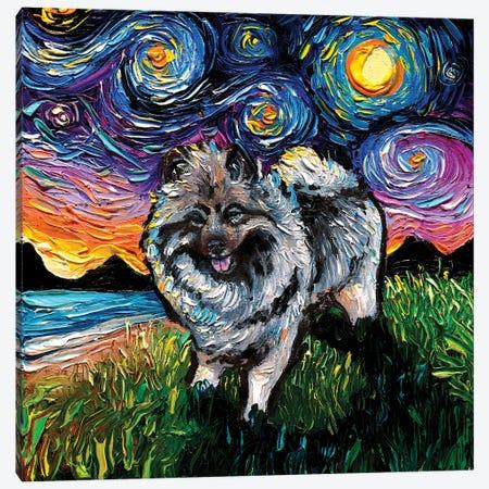 Keeshond Night Canvas Print #AJT275} by Aja Trier Canvas Print