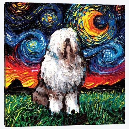 English Sheepdog Night Canvas Print #AJT280} by Aja Trier Canvas Art Print