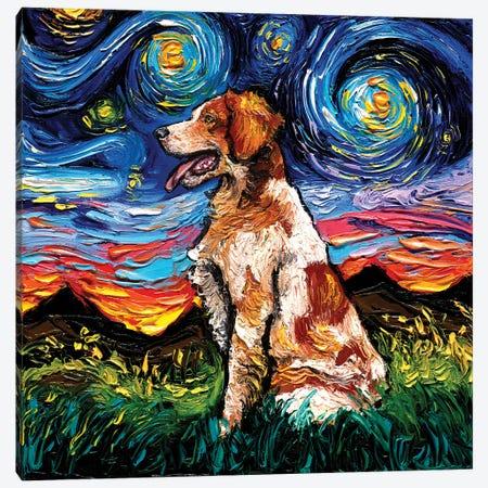 Brittany Spaniel Night Canvas Print #AJT281} by Aja Trier Canvas Art Print