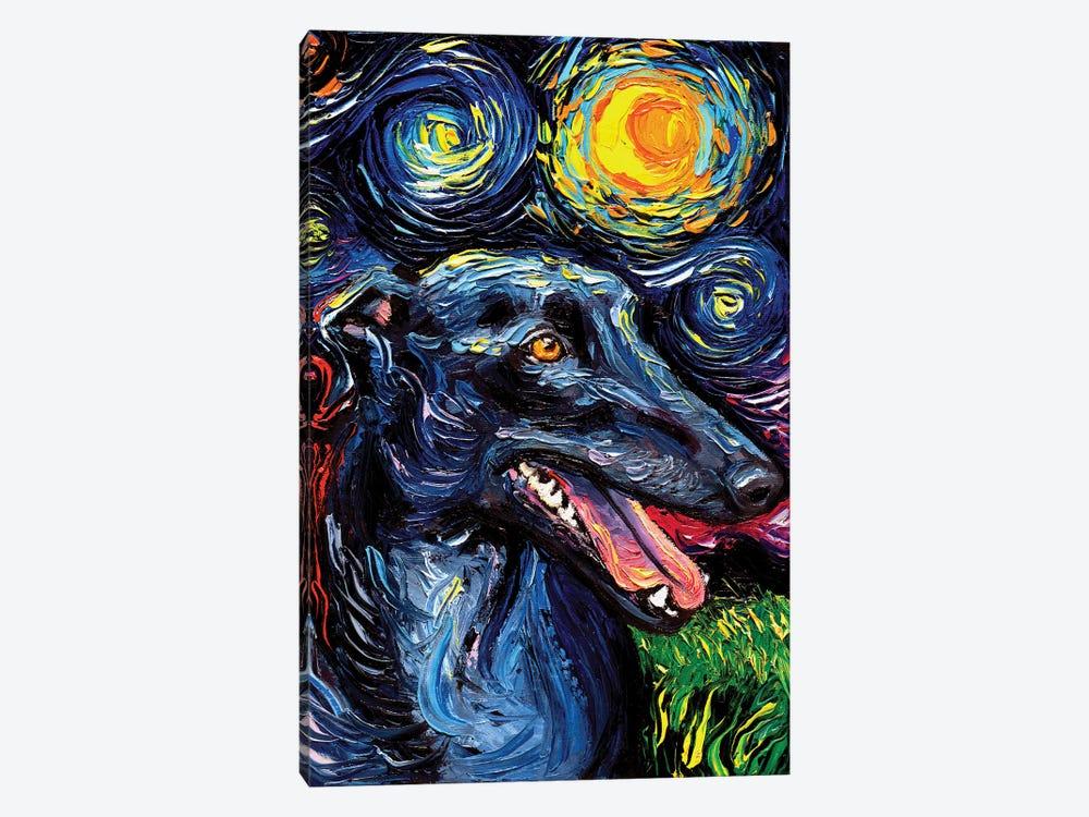 Greyhound Night by Aja Trier 1-piece Art Print